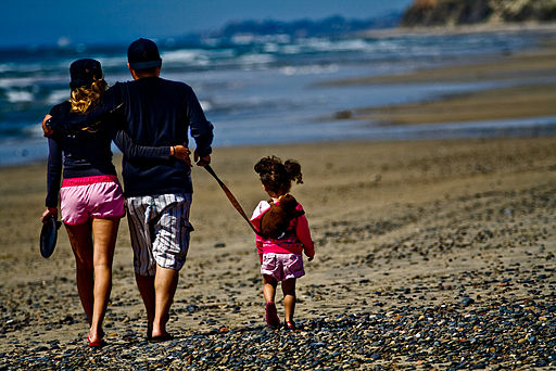 beach trip with family