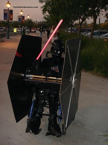 Darth Vader Tie Fighter wheelchair Costume