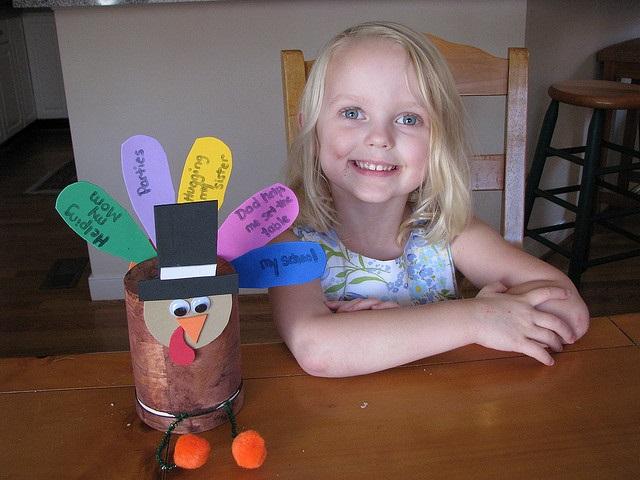 Turkey Pinecone Thanksgiving Craft