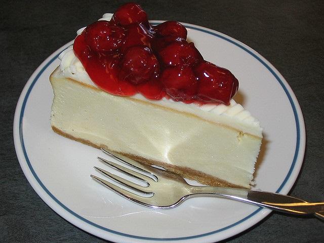 White Chocolate Cheesecake With Cherries